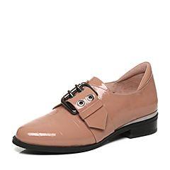 millie's/妙丽秋季专柜同款漆牛皮复古休闲女单鞋LP820CM7
