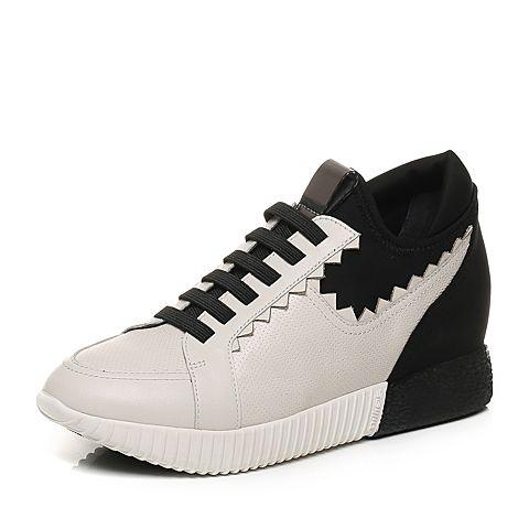millie's/妙丽秋季专柜同款牛皮内增高运动休闲女鞋LL130CM7