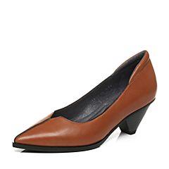 millie's/妙丽秋季专柜同款羊皮中跟女浅口单鞋LP301CQ7