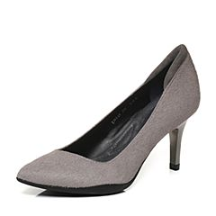 millie's/妙丽秋季专柜同款牛毛/羊皮高跟女浅口单鞋LH918CQ7