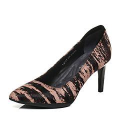 millie's/妙丽秋季专柜同款印花牛毛皮高跟女浅口单鞋LH905CQ7