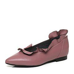 millie's/妙丽秋季专柜同款牛皮低跟女浅口单鞋LM109CQ7