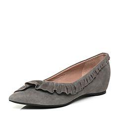 Millie's/妙丽2017秋专柜同款羊绒低跟女浅口单鞋LF717CQ7