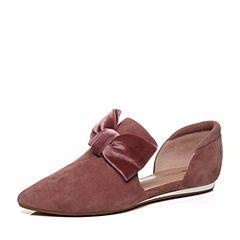 millie's/妙丽秋季专柜同款羊绒蝴蝶结女中空凉鞋LZM47CK7