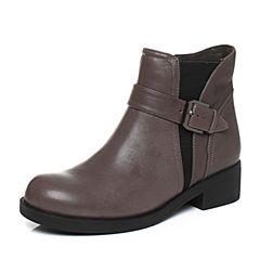 millie's/妙丽冬季专柜同款羊皮时尚休闲方跟女短靴LCC51DD7
