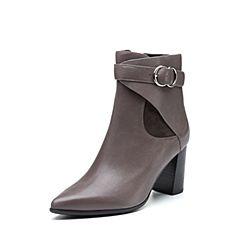 millie's/妙丽冬季专柜同款羊皮时尚高跟女短靴LH647DD7