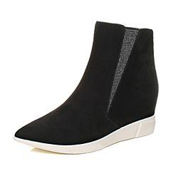 millie's/妙丽冬季专柜同款羊绒时尚坡跟女短靴LR740DD7