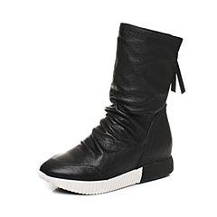 millie's/妙丽冬季专柜同款羊皮时尚平底女中靴LL160DZ7