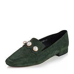 millie's/妙丽秋季新款羊绒时尚珍珠方跟女单鞋TX1DSCM7