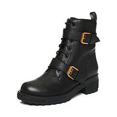 millie's/妙丽冬季新款羊皮时尚马丁靴休闲女短靴LXF53DD7