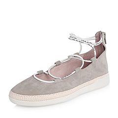 millie's/妙丽2018春专柜同款羊绒交叉绑带时尚女单鞋LF315AM8