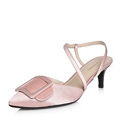 millie's/妙丽2018春专柜同款沙丁布时尚高跟女凉鞋LT304AH8
