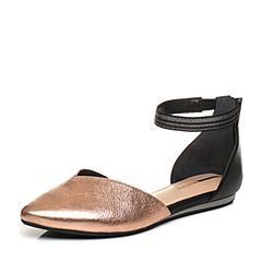 millie's/妙丽2018春专柜同款牛皮时尚平底女凉鞋LZM49AK8