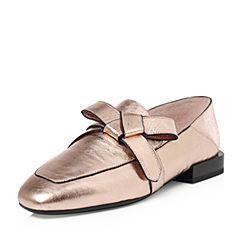millie's/妙丽2018春专柜同款牛皮时尚方跟女单鞋LS521AM8