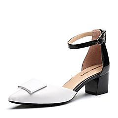 millie's/妙丽2018春专柜同款漆牛皮时尚女凉鞋LH714AK8