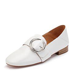 millie's/妙丽2018春专柜同款羊皮时尚大扣方跟女单鞋Q1326AM8