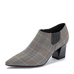millie's/妙丽2018秋专柜同款千格时尚及裸靴粗跟女单鞋LW120CM8