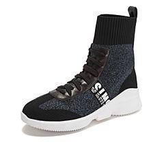 millie's/妙丽2018冬专柜同款编织布时尚休闲袜靴女短靴LW641DD8