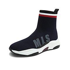 millie's/妙丽2018冬专柜同款编织布面袜靴休闲女短靴LW540DD8