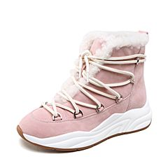 millie's/妙丽2018冬专柜同款羊绒时尚休闲女短靴LW541DD8