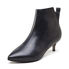 millie's/妙丽2018冬专柜同款牛皮时尚细跟女短靴PLR94DD8