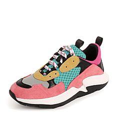 millie's/妙丽2018秋专柜同款牛皮网布老爹鞋女休闲鞋87661CM8
