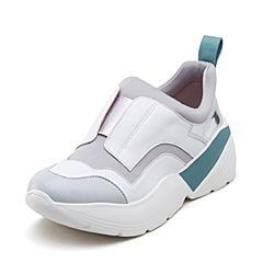 millie's/妙丽2019春专柜同款羊皮革布面老爹鞋女休闲鞋LZ923AM9