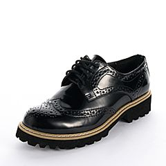 15MINS/15分钟秋季专柜同款黑色擦色PU女单鞋UNV03CM5