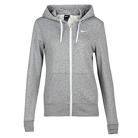 NIKE耐克新款女子CLUB FT FZ HOODY-SWOOSH夹克638284-063