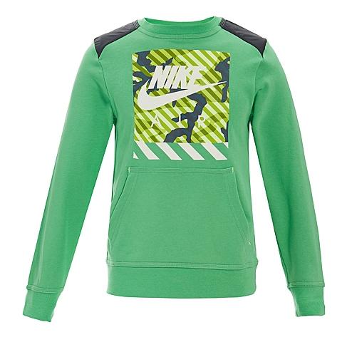 NIKE耐克童装 春季新品专柜同款男大童针织套头衫卫衣645560-361