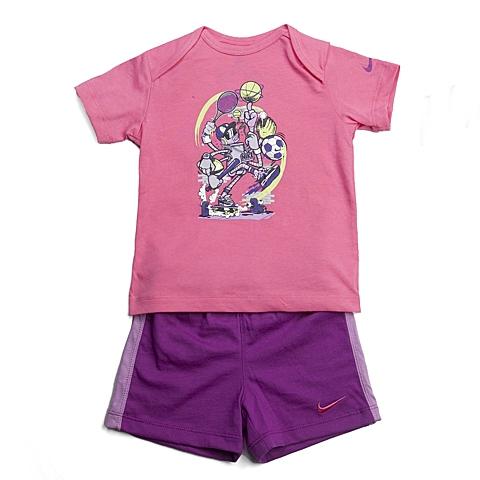 NIKE耐克童装 夏季新品专柜同款GFX J SET (SS + SHORT) INF女婴童针织热身套服644513-627
