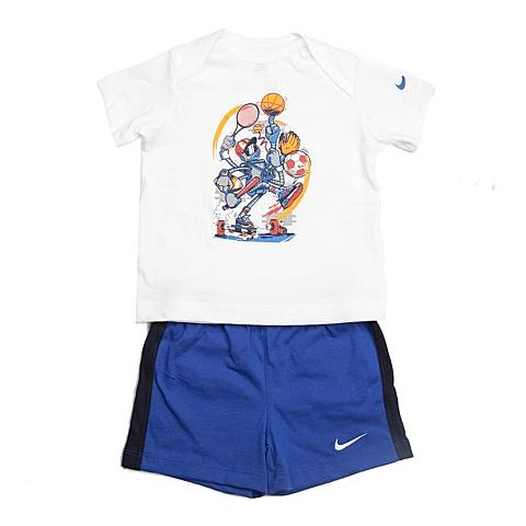 NIKE耐克童装 夏季新品专柜同款GFX J SET (SS + SHORT) INF男婴童针织热身套服644513-100