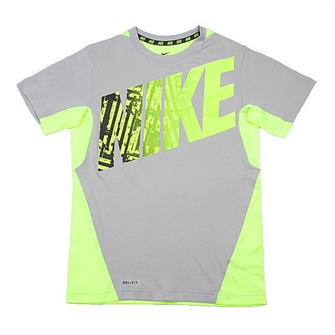 NIKE耐克童装 夏季新品专柜同款男大童短袖针织衫641605-012