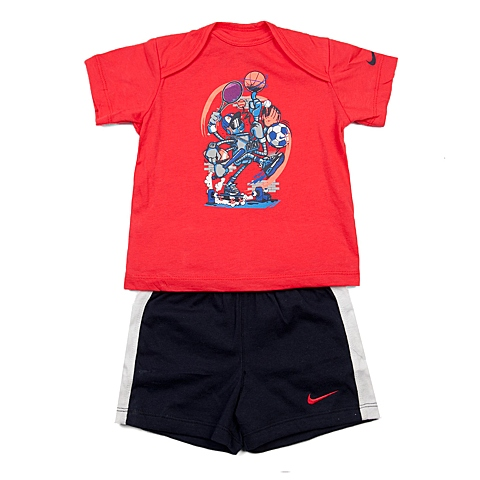 NIKE耐克童装 夏季新品专柜同款GFX J SET (SS + SHORT) INF男婴童针织热身套服644513-647