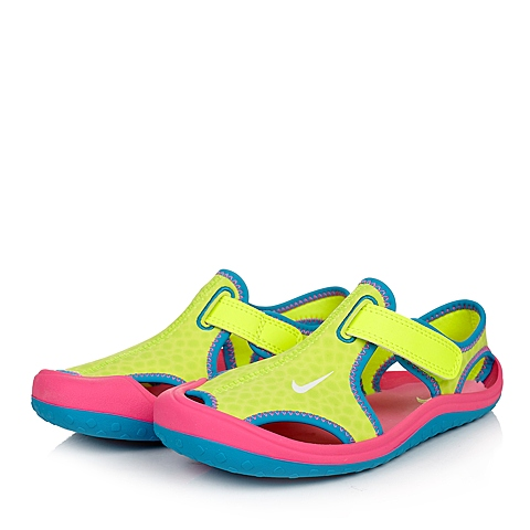NIKE耐克童鞋 夏季新品专柜同款SUNRAY PROTECT (PS)女小童凉鞋344992-700