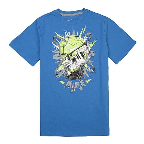 NIKE耐克童装 夏季新品专柜同款YA GFA SKULL TEE YTH男大童短袖针织衫666276-435