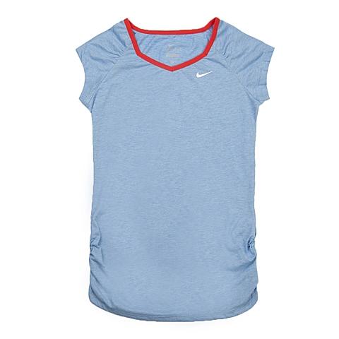 NIKE耐克童装 夏季新品专柜同款NIKE YA DF COOL SS TOP YTH女大童短袖针织衫641848-487