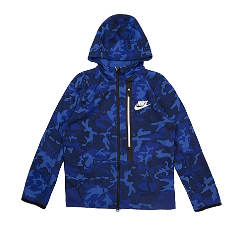 NIKE耐克 新款TECH FLEECE AOP FZHOODIE男大童夹克716805-480