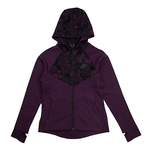 NIKE耐克 新款TECH FLEECE AOP WINDRUNNER女大童夹克716370-563