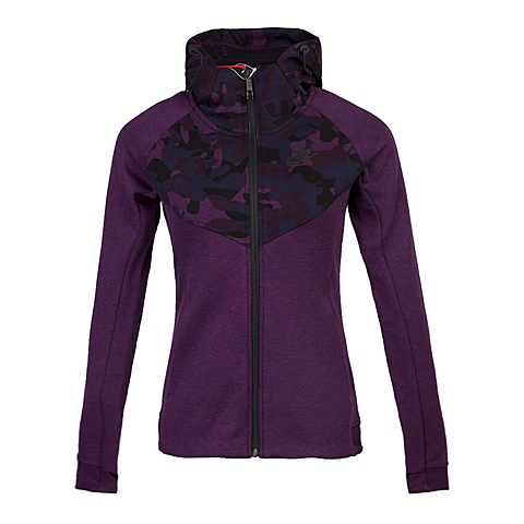 NIKE耐克 新款女子TECH FLEECE FZ HD-AOP夹克685492-563
