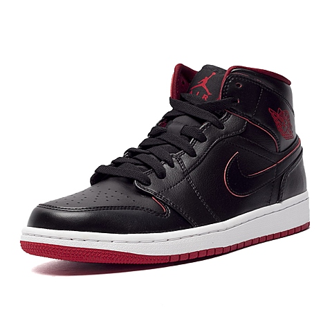 NIKE耐克新款男子AIR JORDAN 1 MID篮球鞋554724-028