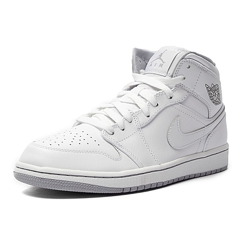 NIKE耐克新款男子AIR JORDAN 1 MID篮球鞋554724-112