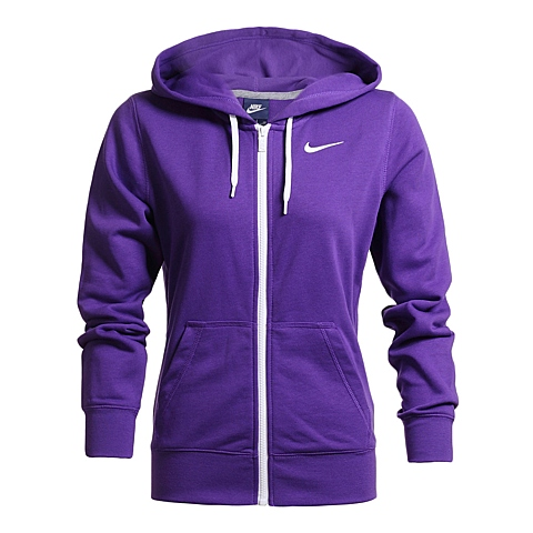 NIKE耐克 新款女子CLUB FT FZ HOODY-SWOOSH夹克638284-524
