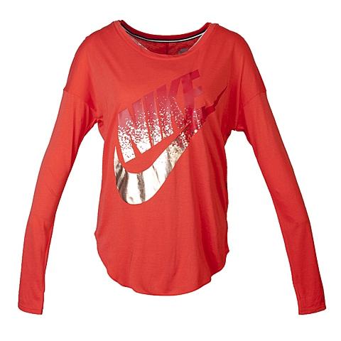 NIKE耐克 新款女子SIGNAL LS TEE METALLIC卫衣/套头衫678849-696
