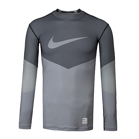 NIKE耐克 新款男子HYPERWARM COMP LS CRW LINES紧身服699978-100