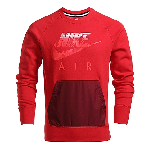NIKE耐克 新款男子AW77 FLC CREW-HYBRID卫衣/套头衫678939-657