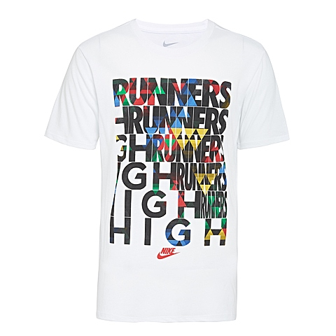 NIKE耐克2016年新款男子TEE-RU RUNNERS HIGH TEET恤739506-100