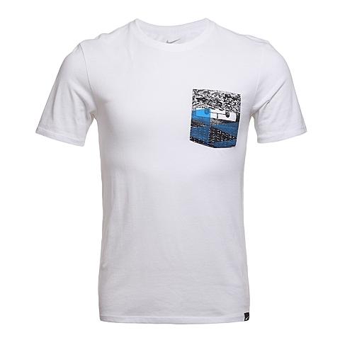 NIKE耐克2016年新款男子LEBRON RUBBER CITY POCKET TEET恤742731-100