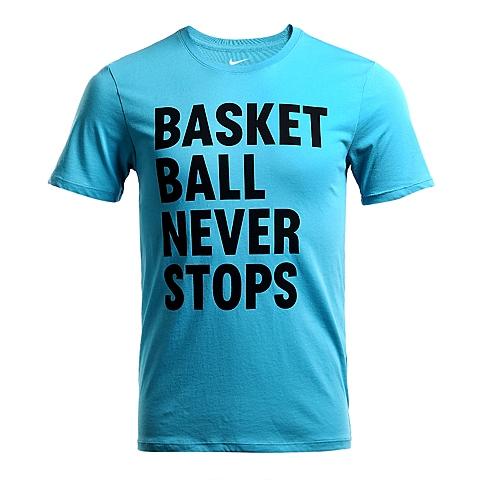 NIKE耐克2016年新款男子NIKE BBALL NEVER STOPS TEET恤778493-418