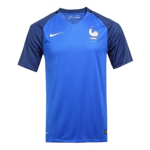 NIKE耐克新款男子法国队FFF主场球迷版球衣T恤724615-439